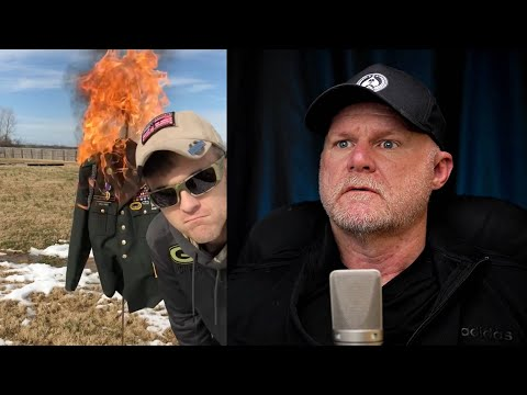 Combat Veteran Burns Uniform (Marine Reacts)