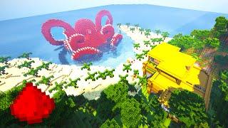 TROPICAL ISLAND REDSTONE HOUSE (w/ 30+ Redstone Creations) - Minecraft Maps