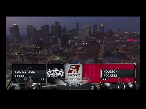 NBA 2K17: San Antonio Spurs vs Houston Rockets (2)