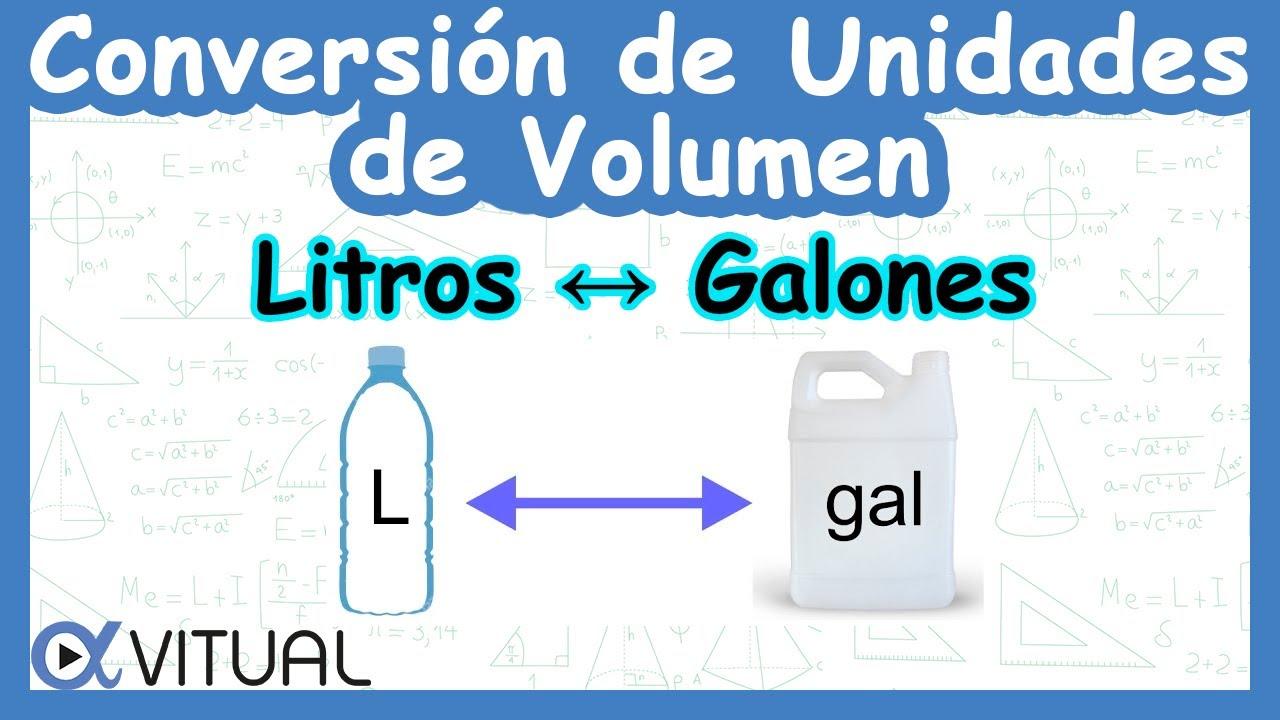 Conversi n de unidades de volumen litros a galones y for Cuantas tilapias por metro cubico