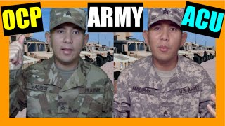 The NEW ARMY UNIFORM OCP vs ACU!
