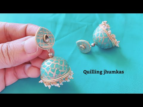 How To Make Quilling Jhumkas || Making Beautiful Paper Jhumkas ||Making Jhumka Shape Perfectly
