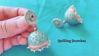 How To Make Quilling Jhumkas || Making Beautiful Paper Jhumkas ||Making Jhumka Shape Perfectly