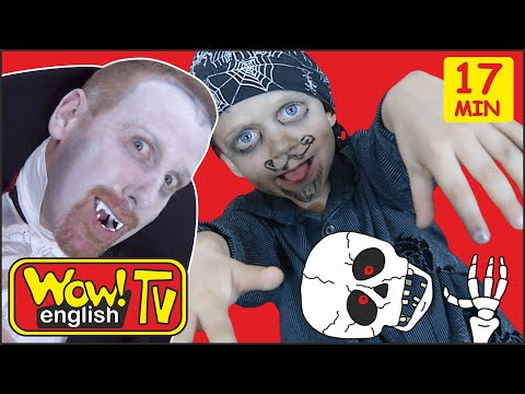 Haunted House Halloween Spooky Stories For Kids From Steve And Maggie | Wow English TV Songs