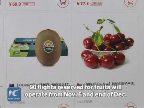 Direct flights help Chilean produce exported to Chinese tables