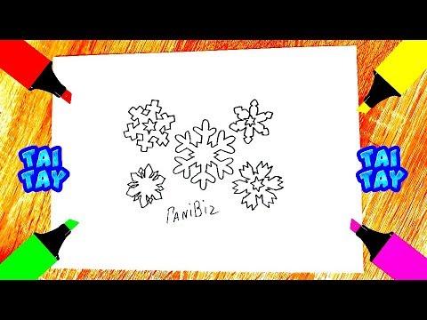 Как нарисовать СНЕЖИНКУ легкие рисунки