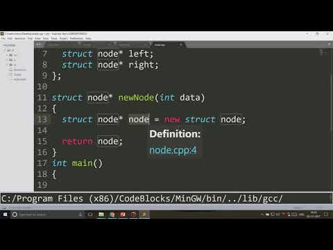 Binary Tree Code in C++ - YouTube