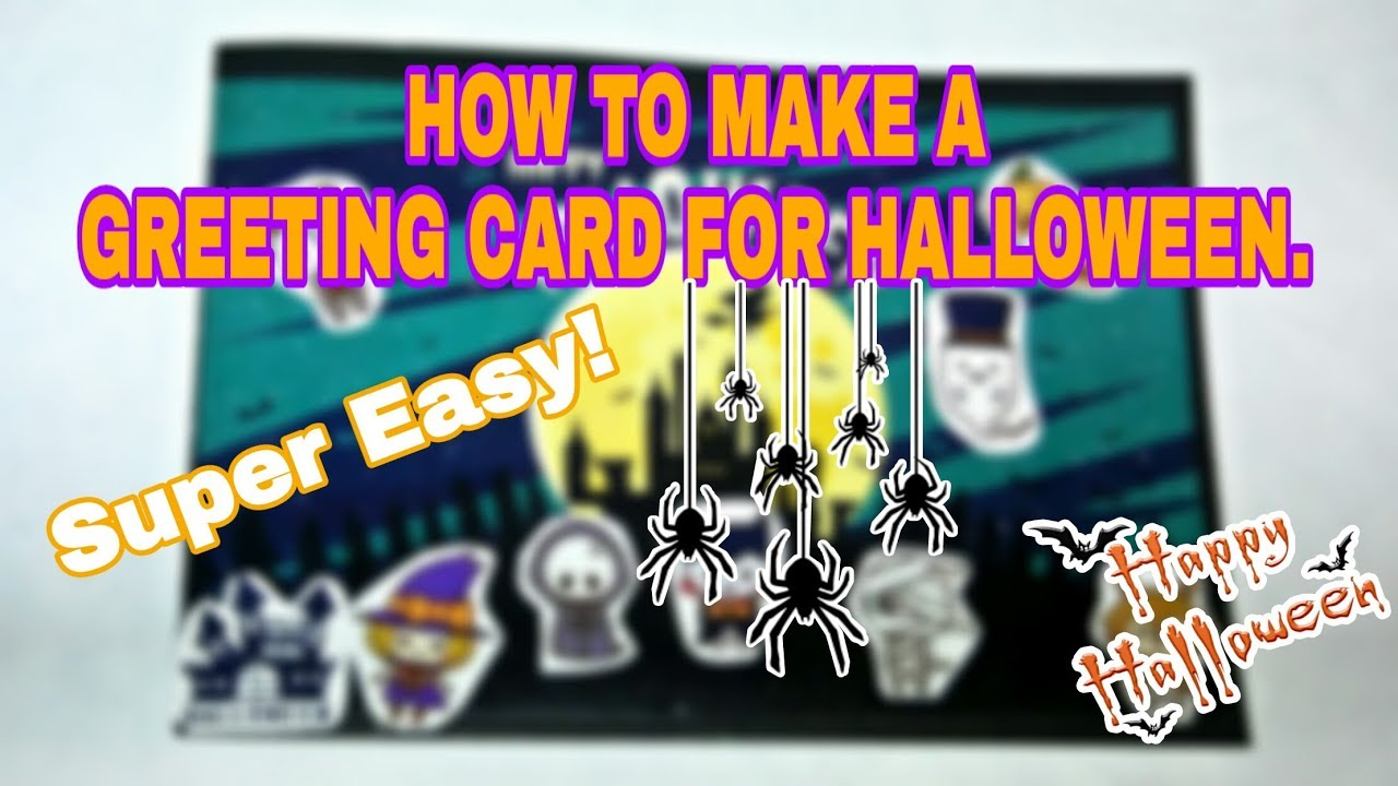 Diy Halloween Greeting Card Super Easy Simple How To Make
