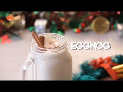 Eggnog Recipe - Homemade Rum & Whiskey Mixed Eggnog Drink - Quick & Easy Valentine's Special Recipe
