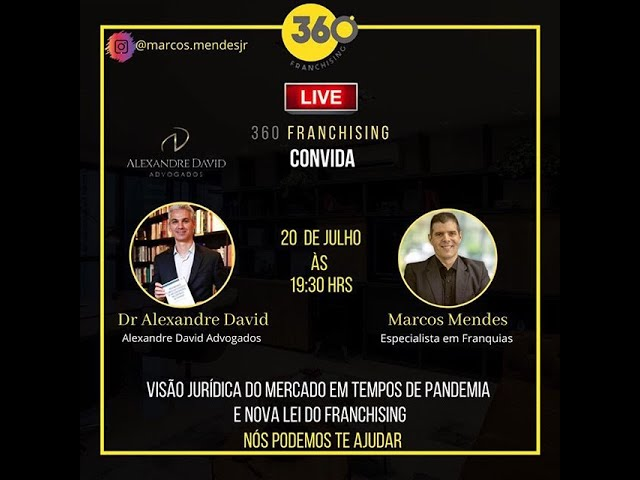 Live: 360 Franchising com Marcos Mendes