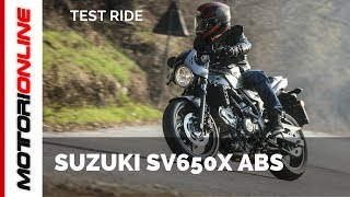 Suzuki SV650X ABS 2018 | Test ride