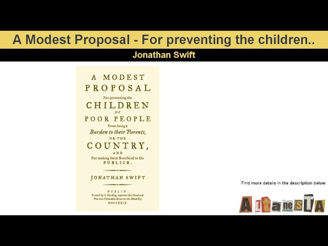 Jonathan Swift Gullivers Travels And A Modest Proposal Lessons
