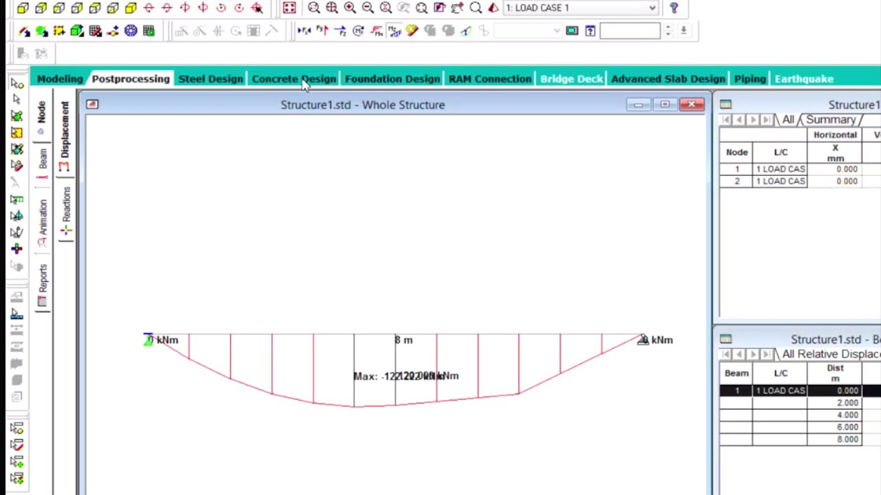 Analysis and Design of concrete beam in STAADPro V8i SS5 STAAD