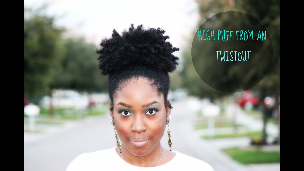 natural hair high puff