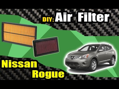 08 13 nissan rogue air filter check replacement youtube. Black Bedroom Furniture Sets. Home Design Ideas