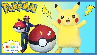 GIANT EGG POKEMON GO Surprise Toys Opening Huge PokeBall