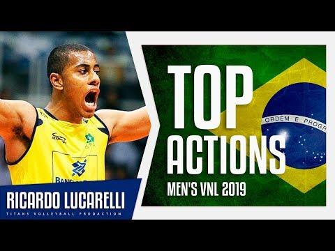 Ricardo Lucarelli | Best Aсtions VNL 2019 | Brazil Volleyball