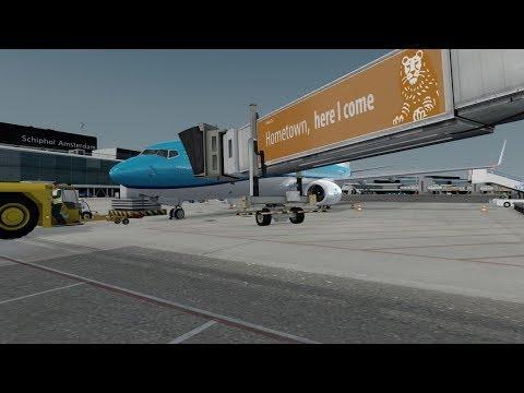 [Prepar3d V4] [PMDG 737NGX] KLM Amsterdam - Frankfurt - Amsterdam Full Flight Vatsim