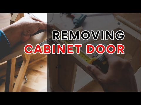 Removing A Cabinet Door Youtube