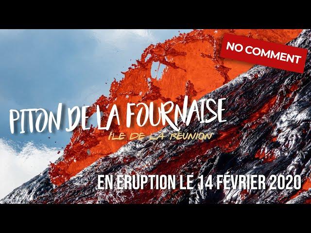 Puissantes coulées de lave au Piton de La Fournaise - Eruption de février 2020