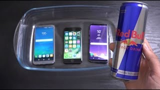 Samsung Galaxy S8 vs LG G6 vs iPhone 7 - Red Bull Soda Test! (4K)