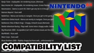 Awesome N64 game compatibility list for the NES and SNES Classic!