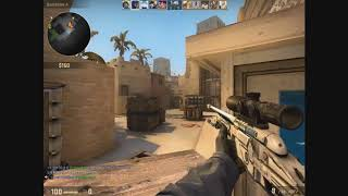 80 PING GAME, SICK SCOUT SHOTS, LUL TEAMMATES - CSGO Match (Raw Footage) # 1