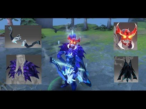 Dota 2 Drow Ranger Mix Set Black Wind RavenSteamcape