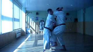 Okinawa Goju Ryu Karate Do Jundokan :Gekisai Bunkai 1+3, Outside, closing (Go)