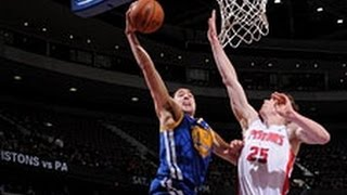 Klay thompson gets up the floor quickly after a made basket and throws down ridiculous dunk on kyle singler. visit nba.com/video for more highlights.abou...