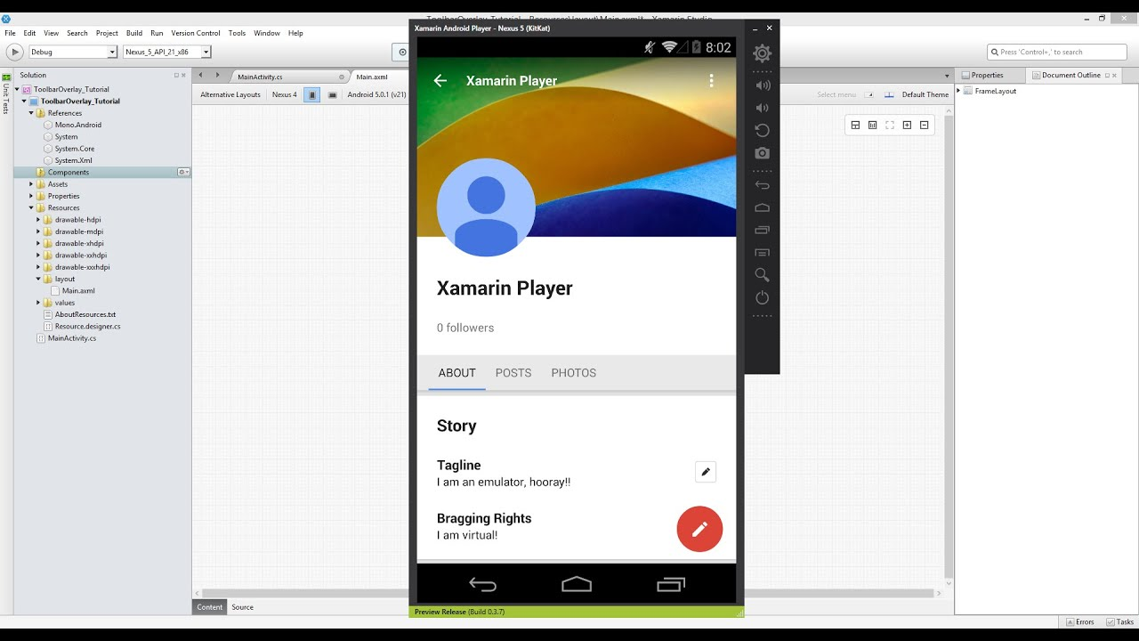 Android FrameLayout and AbsoluteLayout Example Tutorial ...
