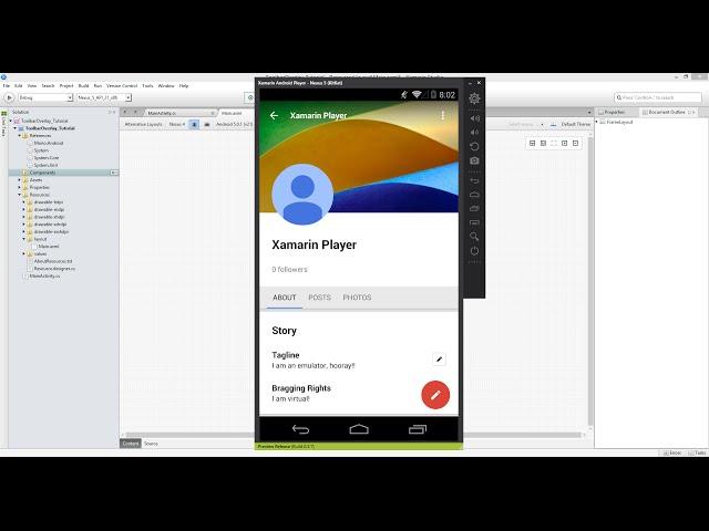 Xamarin Android Tutorial   53   FrameLayout
