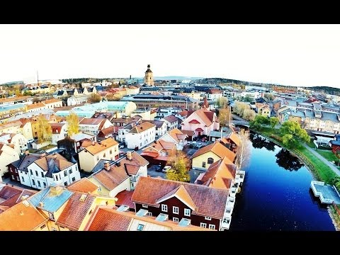Flygfilm över Falun i Dalarna