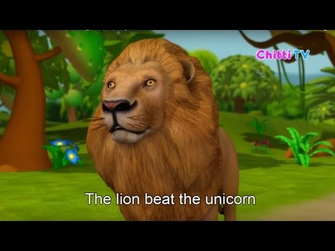 The Lion and the Unicorn | 3D Animation English Nursery rhyme for children | Chitti TV