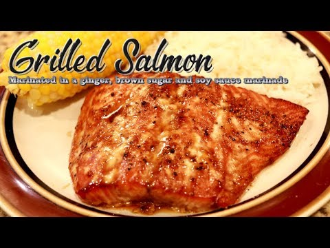 Grilled Salmon marinated in Soy Sauce and Brown Sugar....Its Delicious!