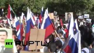 Сирийцы благодарят Россию и Путина за помощь