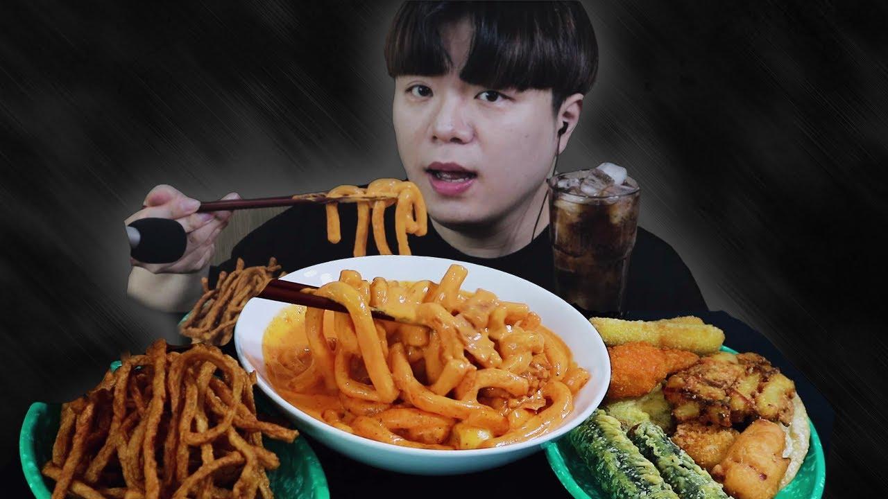 배떡 로제떡볶이 먹방 ASMR MUKBANG ROSE TTEOKBOKKI モッパン 리얼사운드 | 이팅사운드 | Eating Show