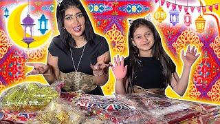 تجهيز طاوله رمضان مع نور وماما😍