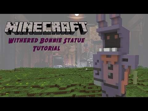 Minecraft Tutorial: Withered Bonnie (Five Nights At Freddys 2) Statue