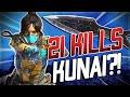 GETTING KUNAI + 21 KILLS in Apex Legends!