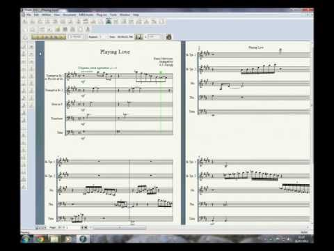 "Playing Love (Ennio Morricone, from ""The Legend of 1900"") - arrangement for classic brass quintet"