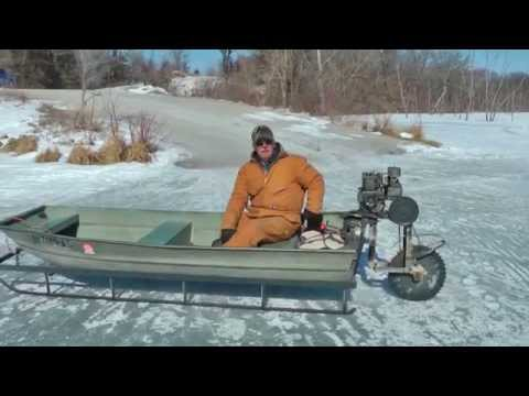 Viral video Ice Sled ice machine still works, Mississippi Ri
