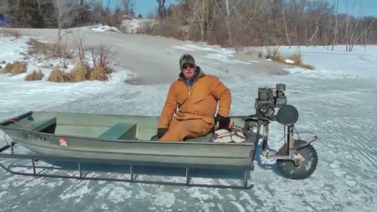 Viral video Ice Sled machine still works, Best Ever April Fools Chipper  Mississippi River to Canada