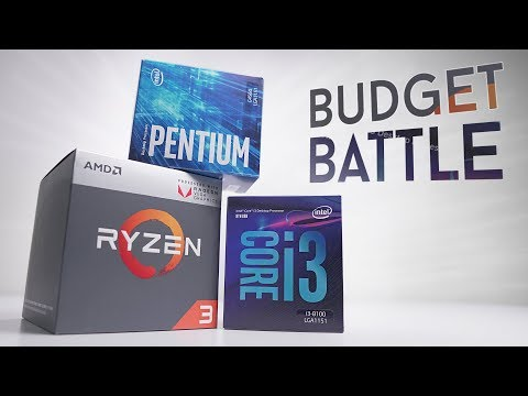 BEST Budget CPU in 2018? G4560 vs R3 2200G vs i3 8100!