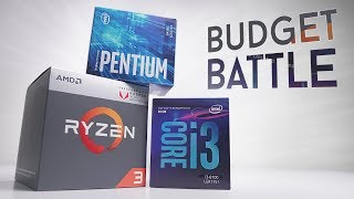 BEST Budget CPU in 2018? G4560 vs R3 2200G vs i3 8100!