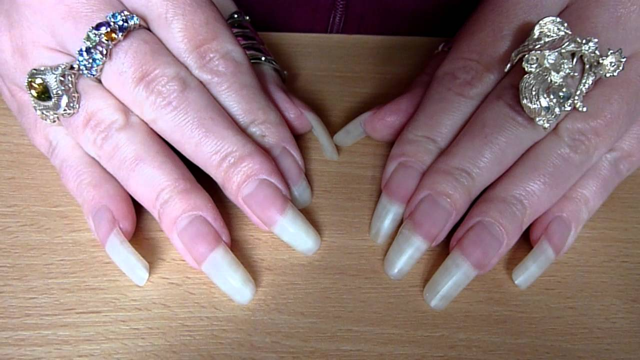 New Nail Video 2013 No Polish On Real Long Bare Clear Natural Nails HD