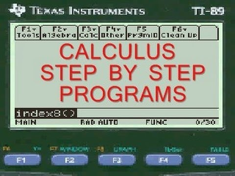 Inflection Point Calculus Ti89 Program App Everystepcalculus