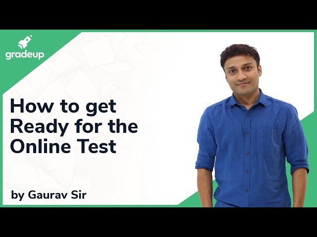 How to get ready for Online Test | JEE Main 2019