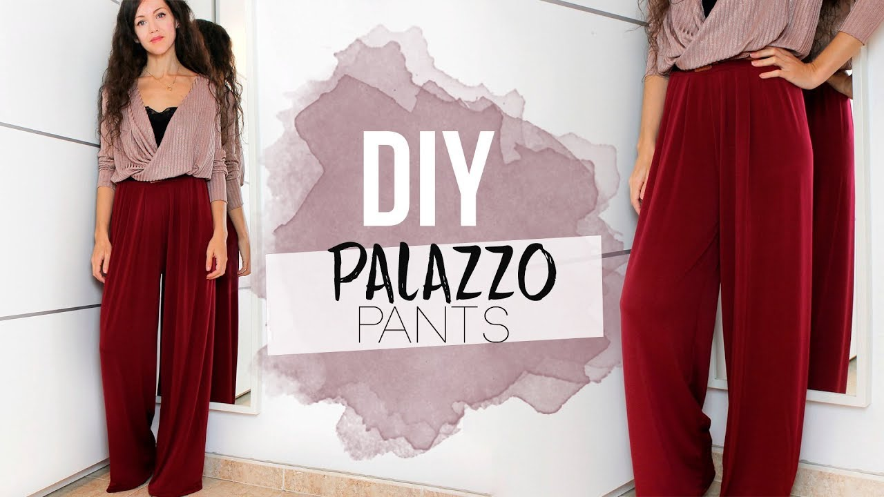 Diy Palazzo Pants Como Hacer Un Pantalon Palazzo Youtube