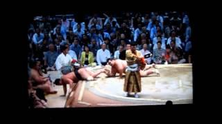 妙義龍vs琴奨菊 平成27年大相撲七月場所 Sumo Myogiryu vs Kotoshogiku.